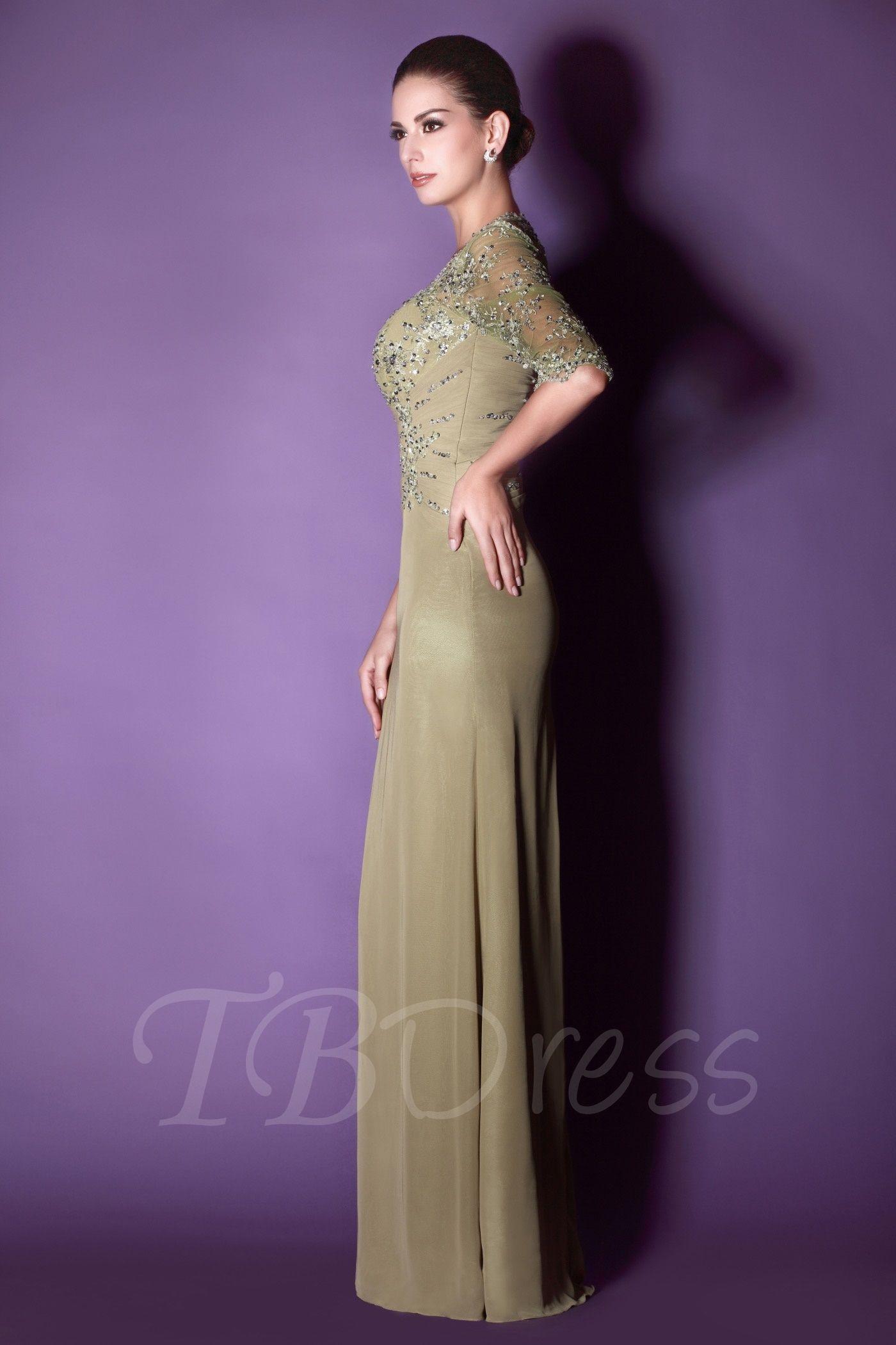Appliques sequins half sleeves mother dress mothers dresses