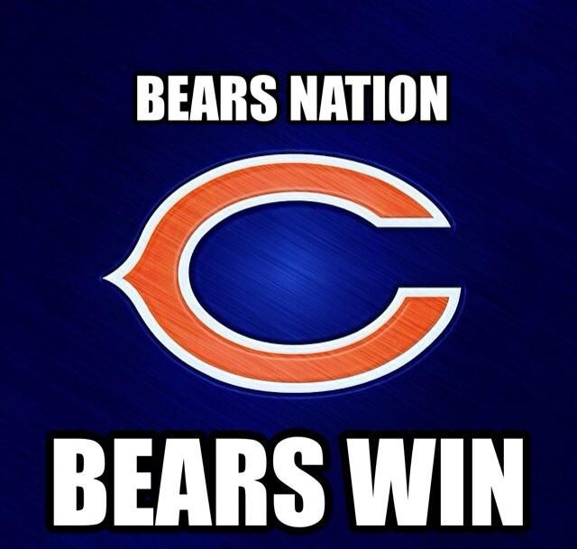 Bears Nation Bears Win Chicago Bears Logo Chicago Bears Baby Bears Football