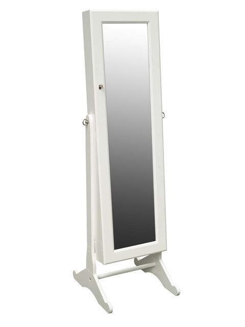 Cheval Mirror Armoire with Hidden Jewelry Storage, $159 ...