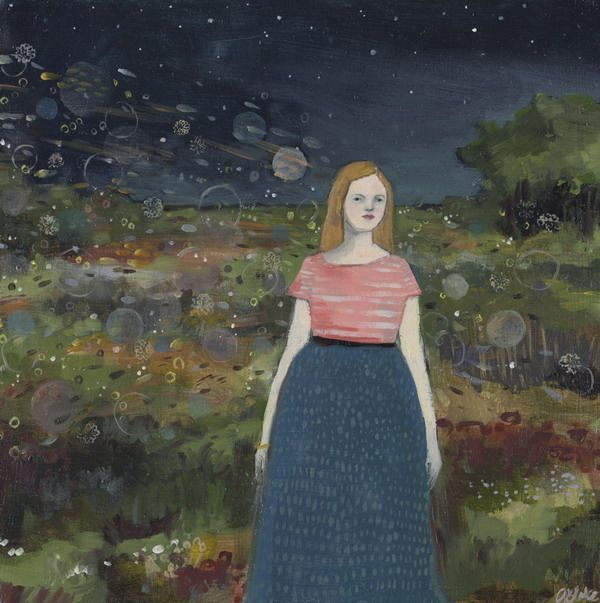Memories followed her original painting by Amanda Blake