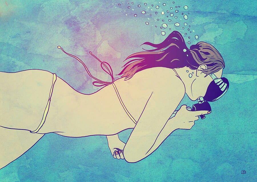 Giuseppe cristiano 1 Swimming girl