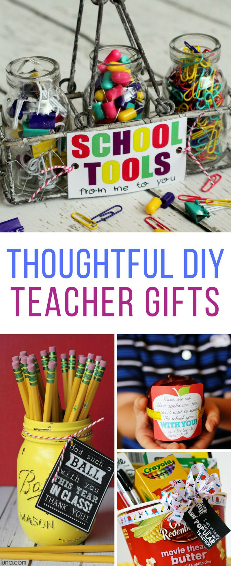 19 DIY Back to School Teacher Gifts That Are Super Cute