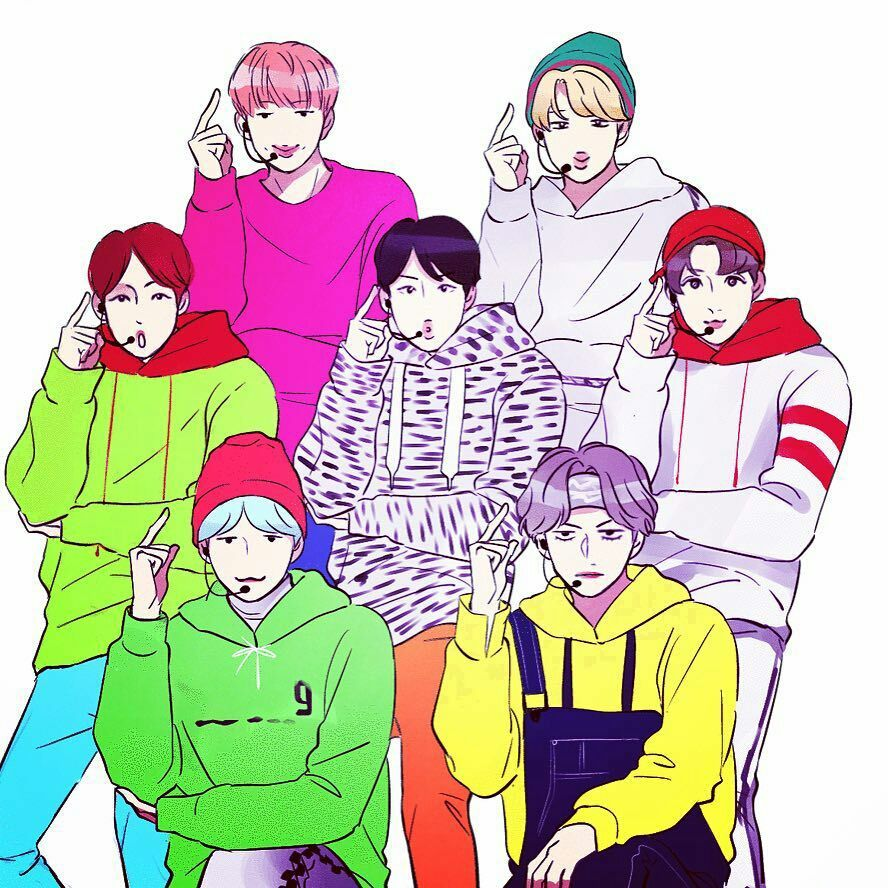 BTS Cartoon Photos [Fanart] in 2020 Bts drawings, Fan