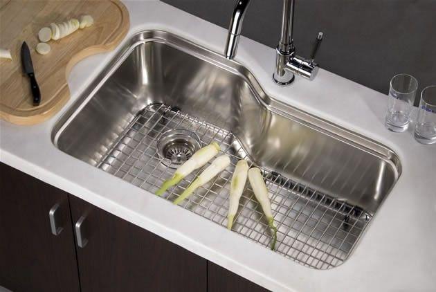 Dawn undermount single bowl with side drain dsu3118 62790 dawn undermount single bowl sink 33 x 20 satin nickel 16 gauge workwithnaturefo