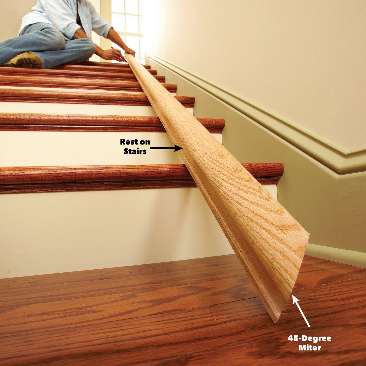 Install a New Stair Handrail | Stair handrail, Interior ...