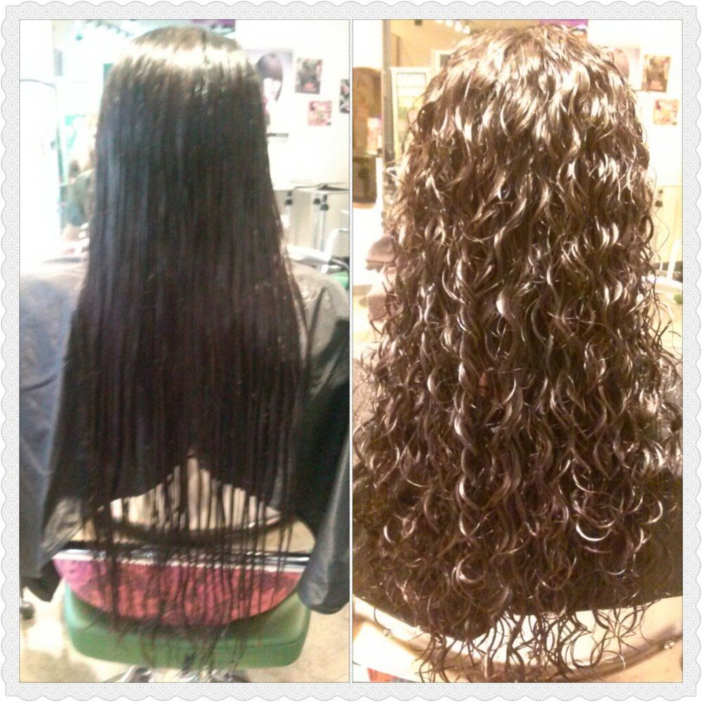 Paul Mitchell The School Photos Spiral Perm Long Hair Permed Hairstyles Long Hair Perm