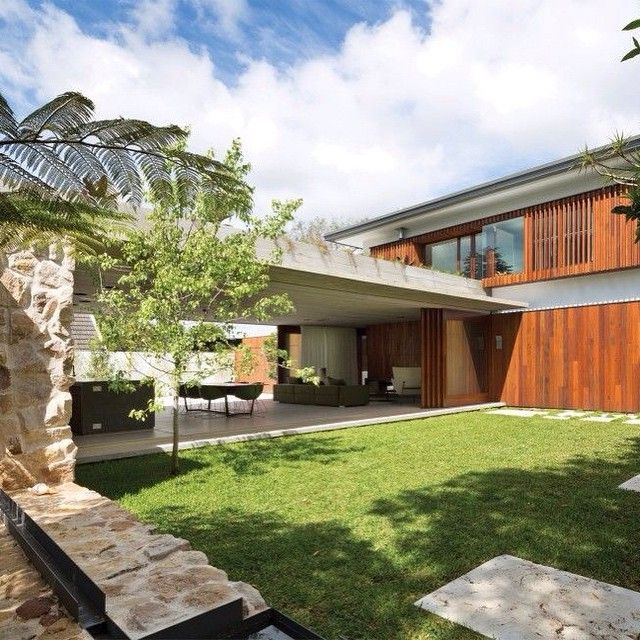 Love The Timber Stone And Concrete Combination By Arkhefield Homedesign Lifestyle Styl Grand Designs Australia Australian Interior Design House Hunters