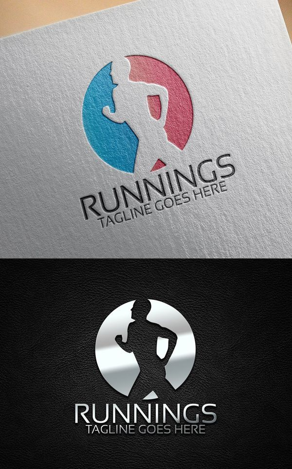 Templates: 25 Custom Logo Design Templates Running Fitness Logo TemplateRunning Fitness Logo Template