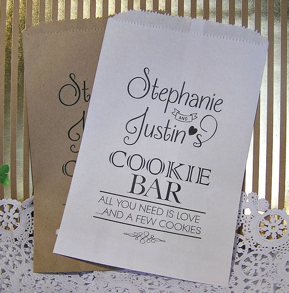 Personalized Cookie Bags Wedding By Smcfavors