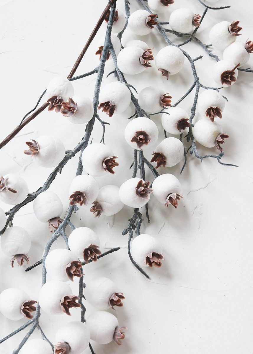 Frosted White Berry Garland Outdoor Christmas Decorations Afloral
