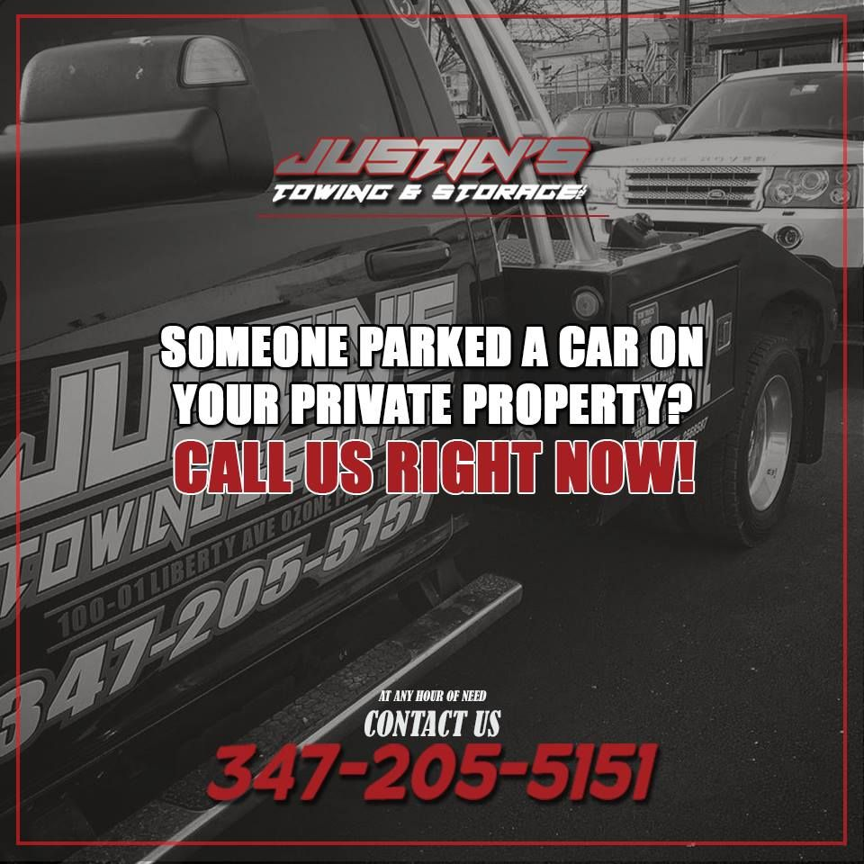 Did someone parked a car on your private property.... Call