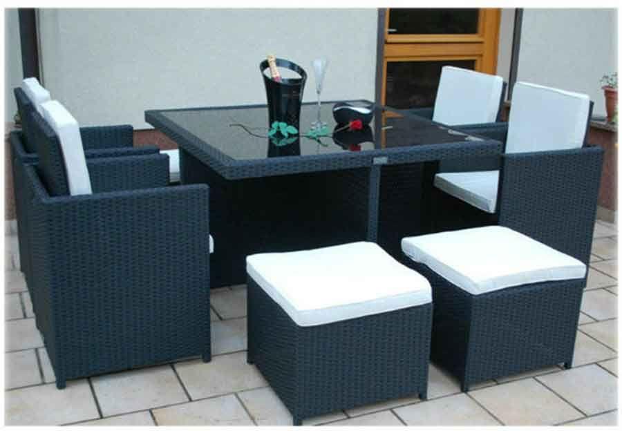 Cube Rattan Garden Furniture Set Chairs Sofa Table Outdoor Patio Wicker 8 Seater Rattan Garden Furniture Rattan Furniture Set Rattan Garden Furniture Sets