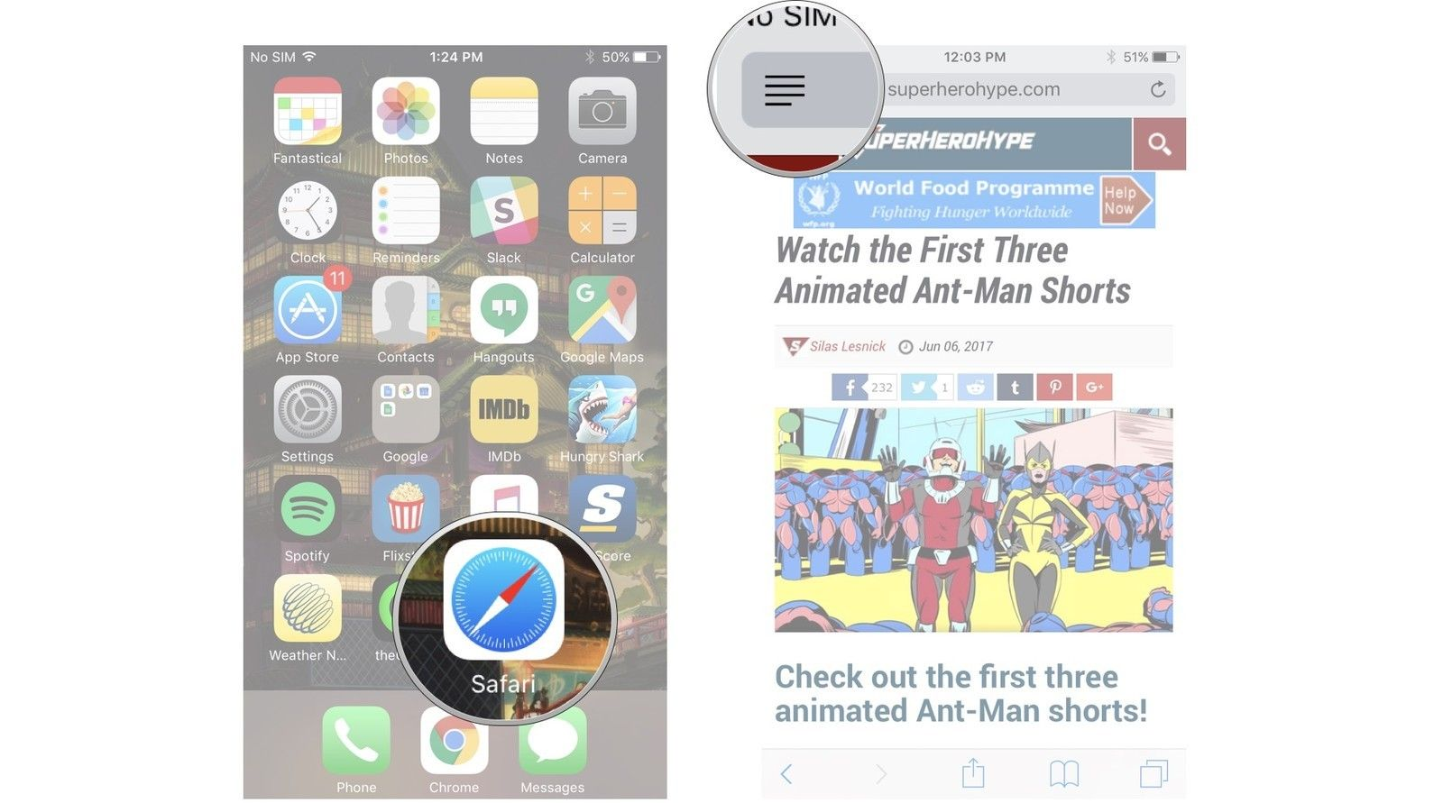 How to use reader view in safari on iphone and ipad