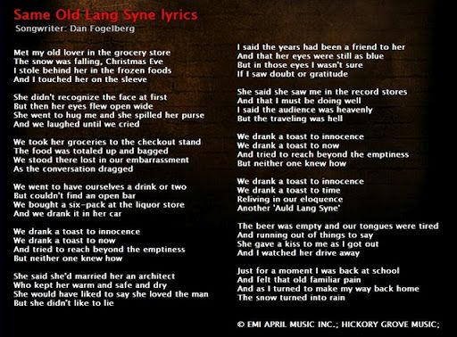 dan fogelberg same old lang syne not really a christmas song but it is played more at christmas actually a true story of dans life - Dan Fogelberg Christmas Song