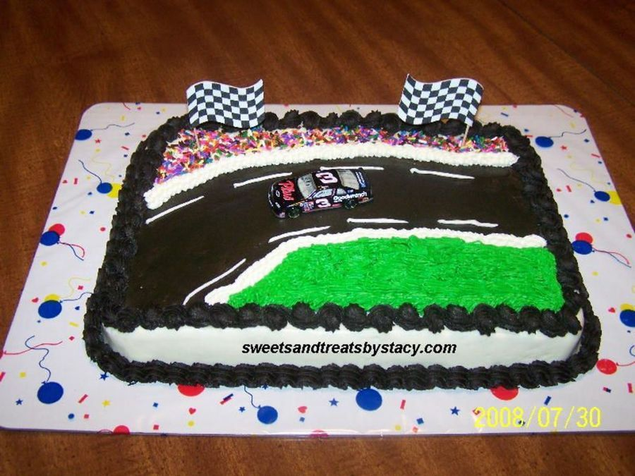 3 Nascar Birthday Cake This Was For A 9 Year Old Boys They Loved The