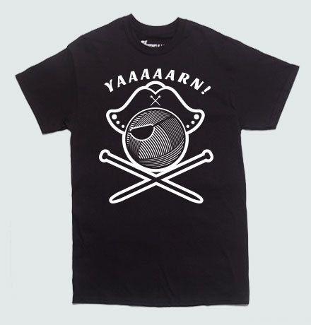 Yaaaaarn Knitting Pirate T-shirt