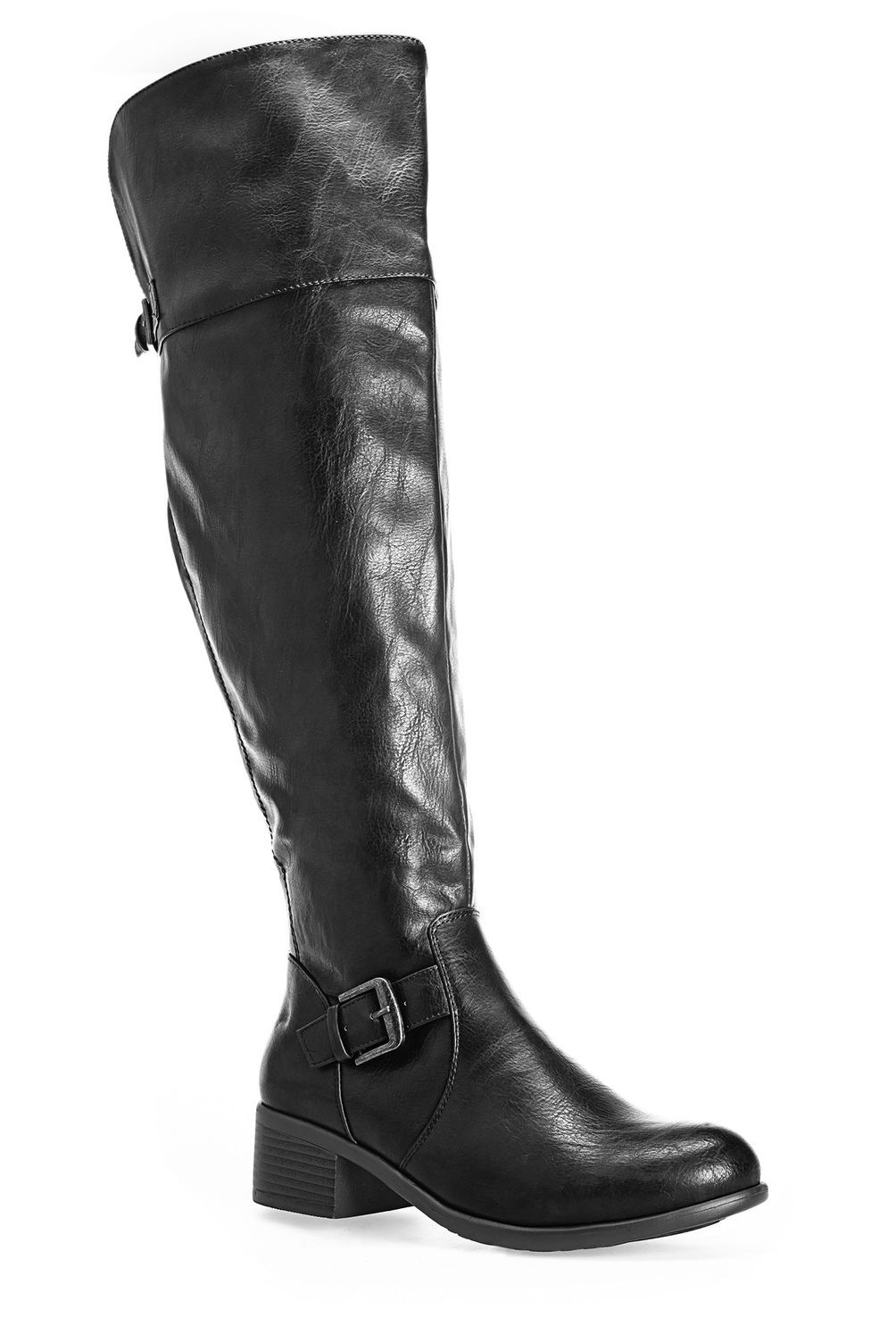 17bef7ae7c8 Madrid Over the Knee Buckle Boot-Wide Width Boot-Avenue