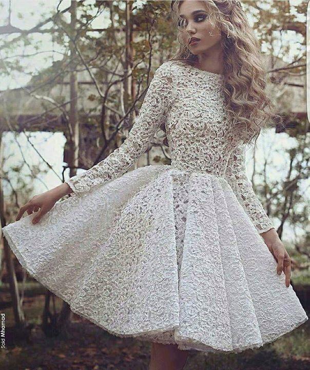 7218510c38 Vestido circular blanco
