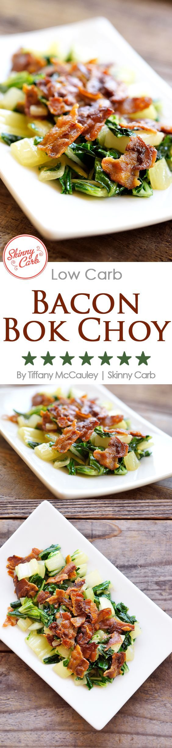Learn all about bok choy! How to buy it, prep it and cook with it for a low carb eating plan. This delicious dish is perfect for a quick breakfast or as a flavorful side dish. ~ www.skinnycarb.com/