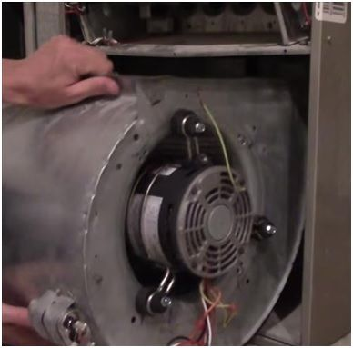 How To Replace A Furnace Blower Motor And Capacitor Furnace Repair Hvac Furnace Maintenance