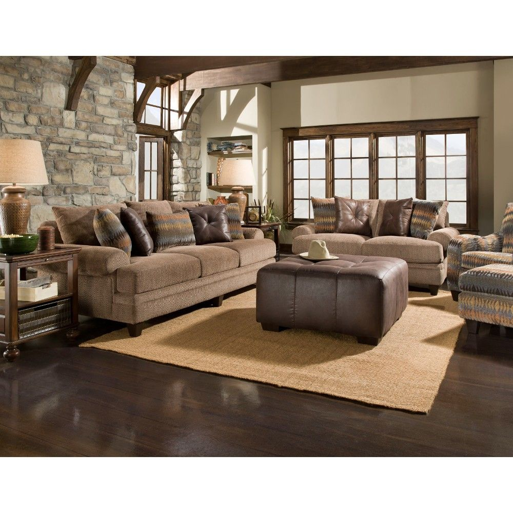 Amazing Journey Collection Raisin Brown Upholstered Sofa With Its Casual  Contemporary Design Highlighted By Unique Contrast Pillows, This Piece Is A  Stunning Blend ... Gallery