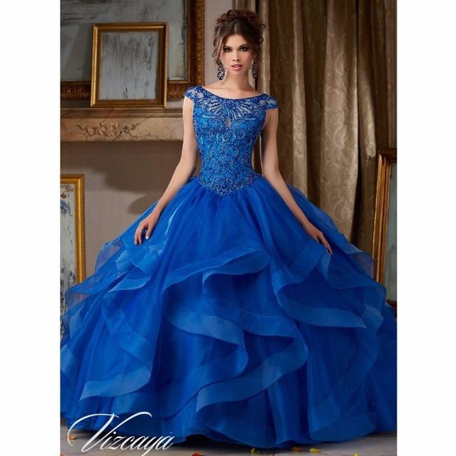 Atemberaubenden Königlichen Blau Bonbon 16 Kleid 2016 ballkleid ...