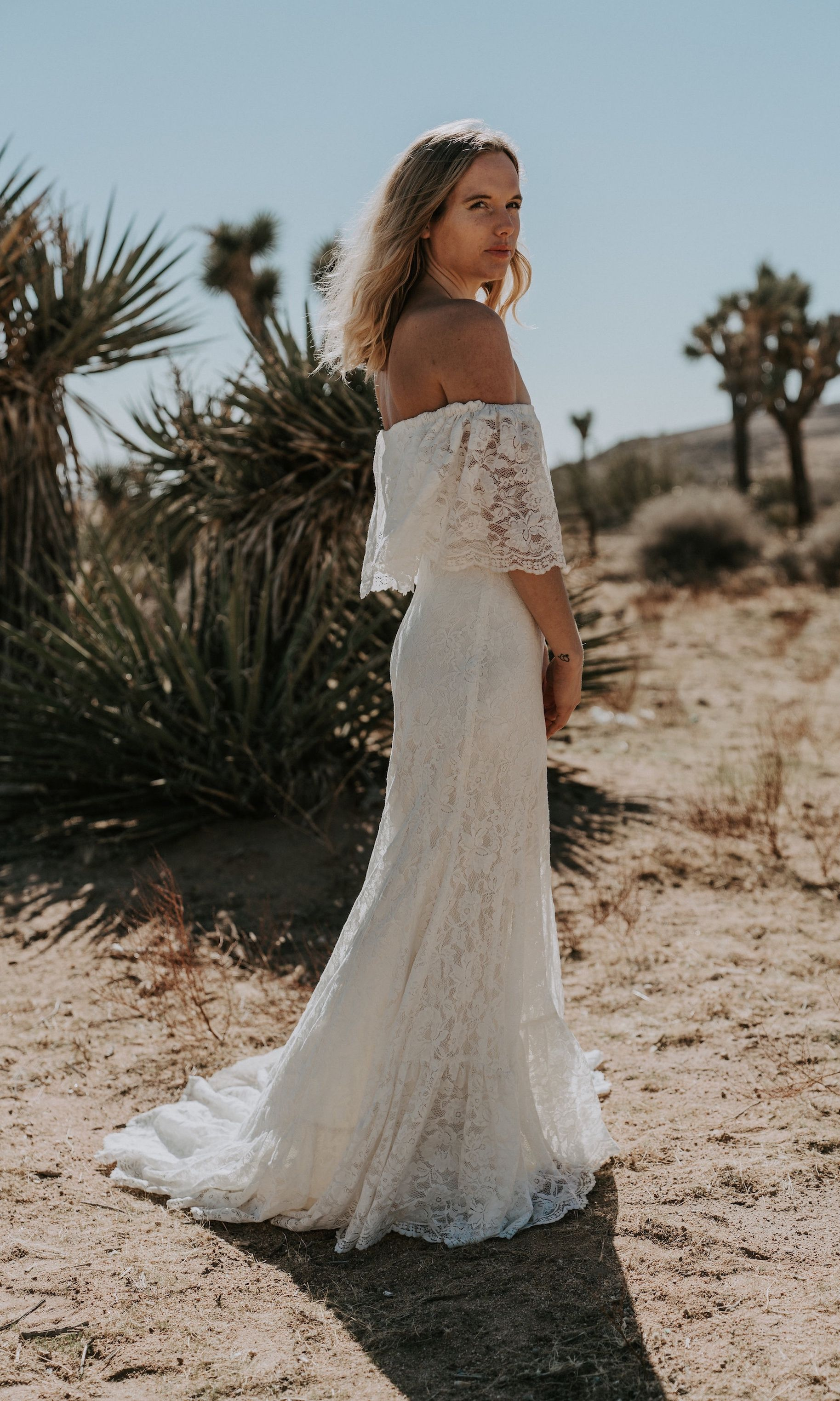 Hippie Beach Boho Wedding Dress