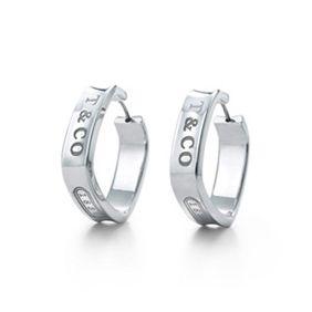 3752020d16de9 Tiffany & Co 1837 Square Hoop Earrings | BLING | Tiffany earrings ...