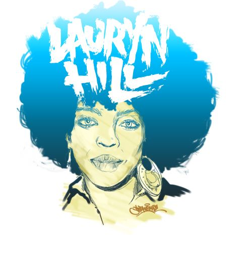 A portrait for lauryn hill. With love.