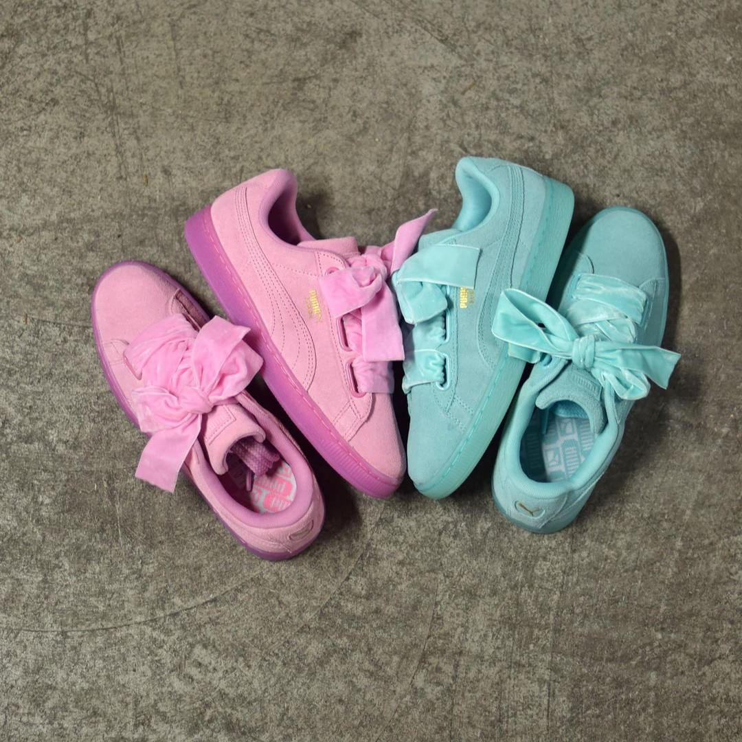 3e6c296b366a PUMA Suede Heart Reset Pink   Blue . Disponible Available  SNKRS . Un  superbe