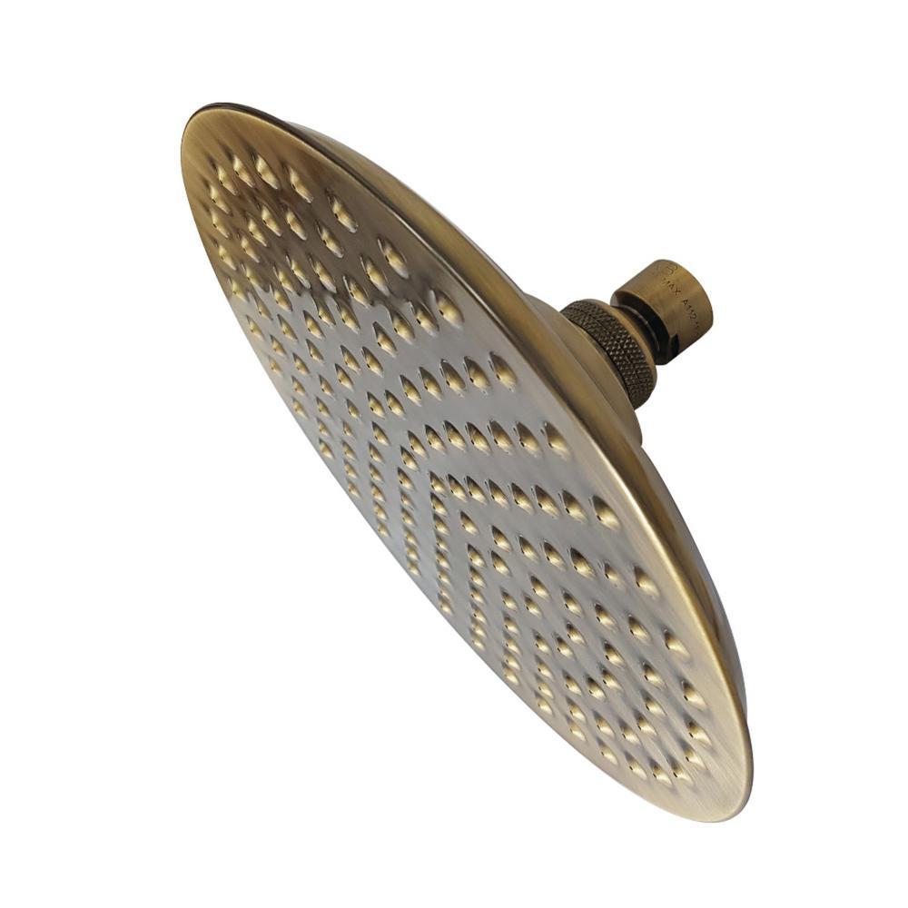 Kingston Brass Victorian Rain 1 Spray 7 75 In Showerhead In Vintage Brass Kingston Brass Rain Shower Head Shower Heads