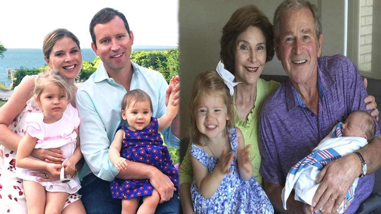 George W Bush Family Photos With Wife Daughters Father Mother