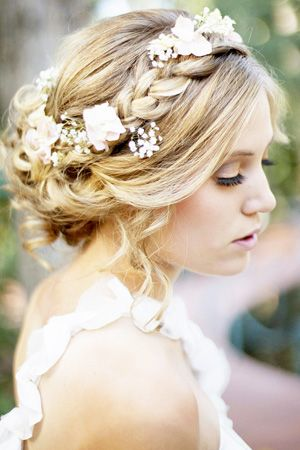 Pin By Kathleen Hoover On Bridal Hair Accessories Braided Hairstyles For Wedding Flowers In Hair Wedding Hairstyles