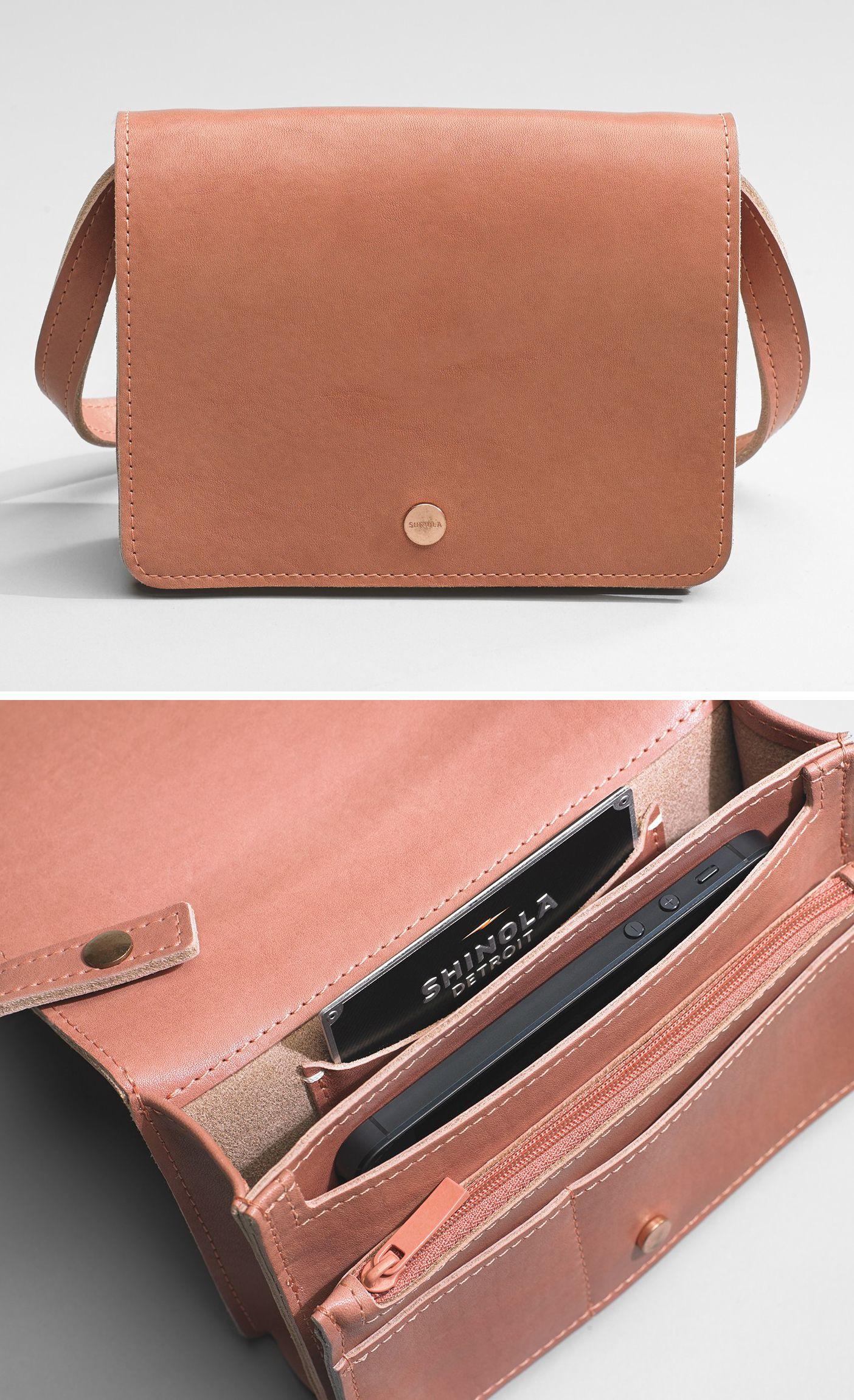 Handsewn Leather Crossbody Bag