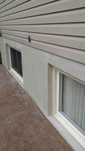 Parging A Foundation Wall Home Improvement Concrete Texture Home Inspection