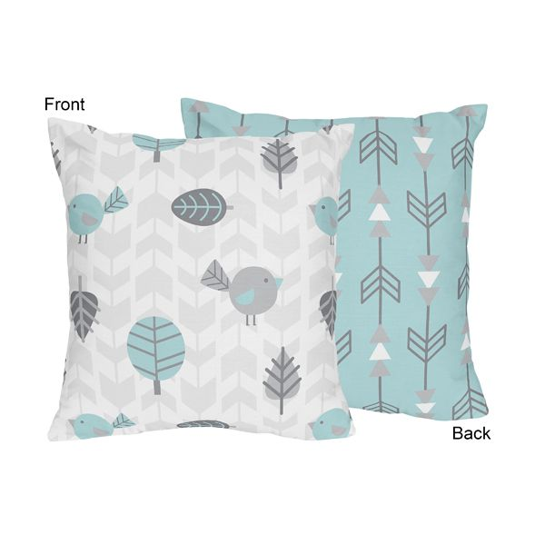 Decorative Accent Throw Pillow for the Earth and Sky Collection by Sweet Jojo Designs, Multi