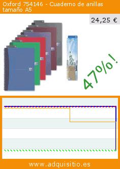Oxford 754146 - Cuaderno de anillas tamaño A5 (Productos de oficina). Baja 47%! Precio actual 24,25 €, el precio anterior fue de 45,77 €. http://www.adquisitio.es/oxford/754146-cuaderno-anillas