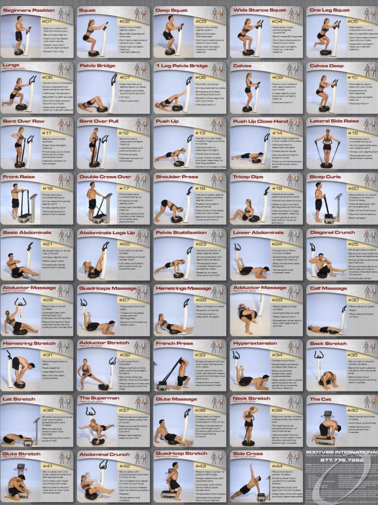 Whole body vibration exercise chart from http howtoloseweightfasterterubix fitness also work how to lose weight faster and keep it off rh pinterest