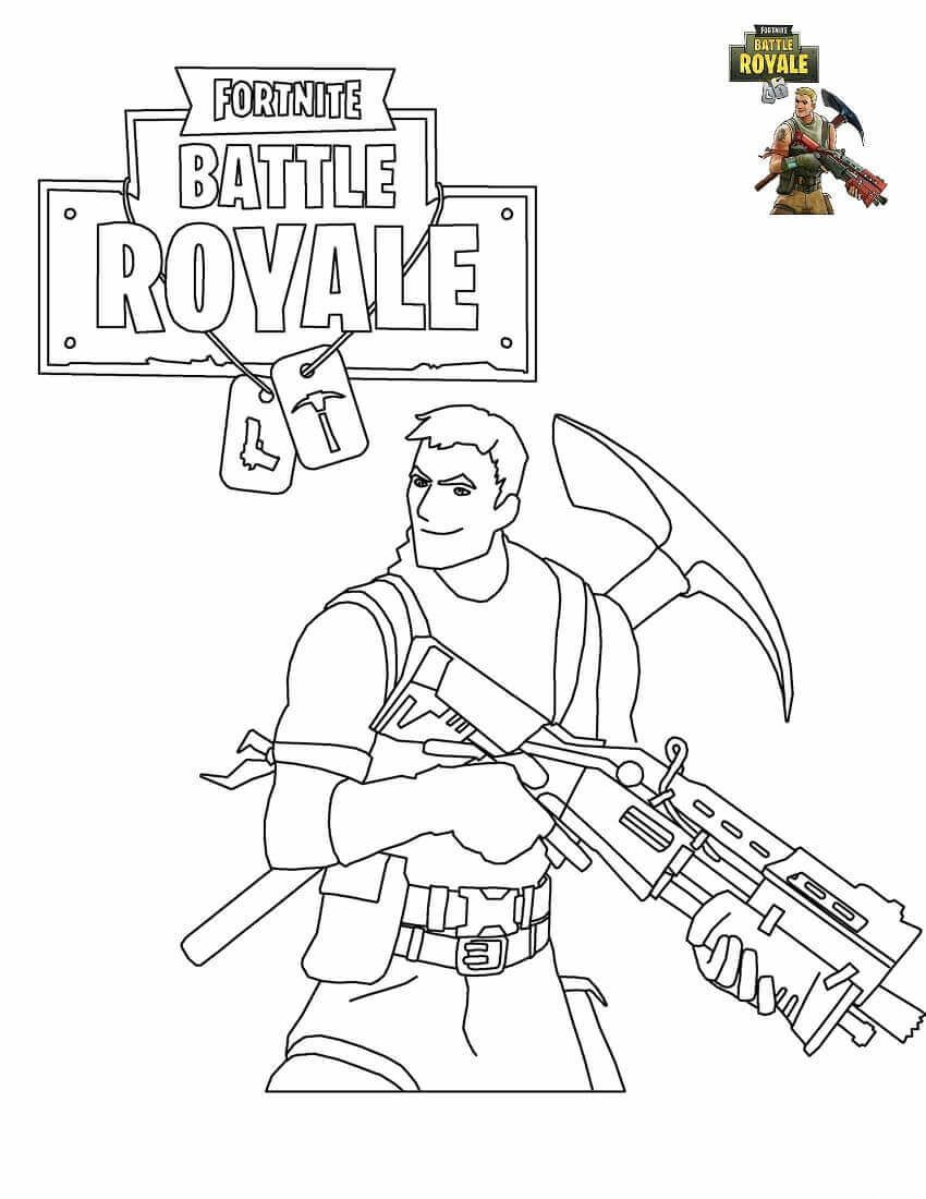 Free Printable Fortnite Coloring Pages Survivalist Fortnite Party