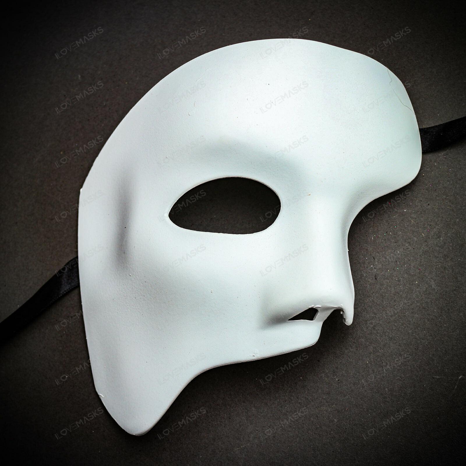 Phantom Of The Opera Diy Half Face Venetian Party Mask Nose White Unpainted Phantom Mask Mask Party Opera Mask