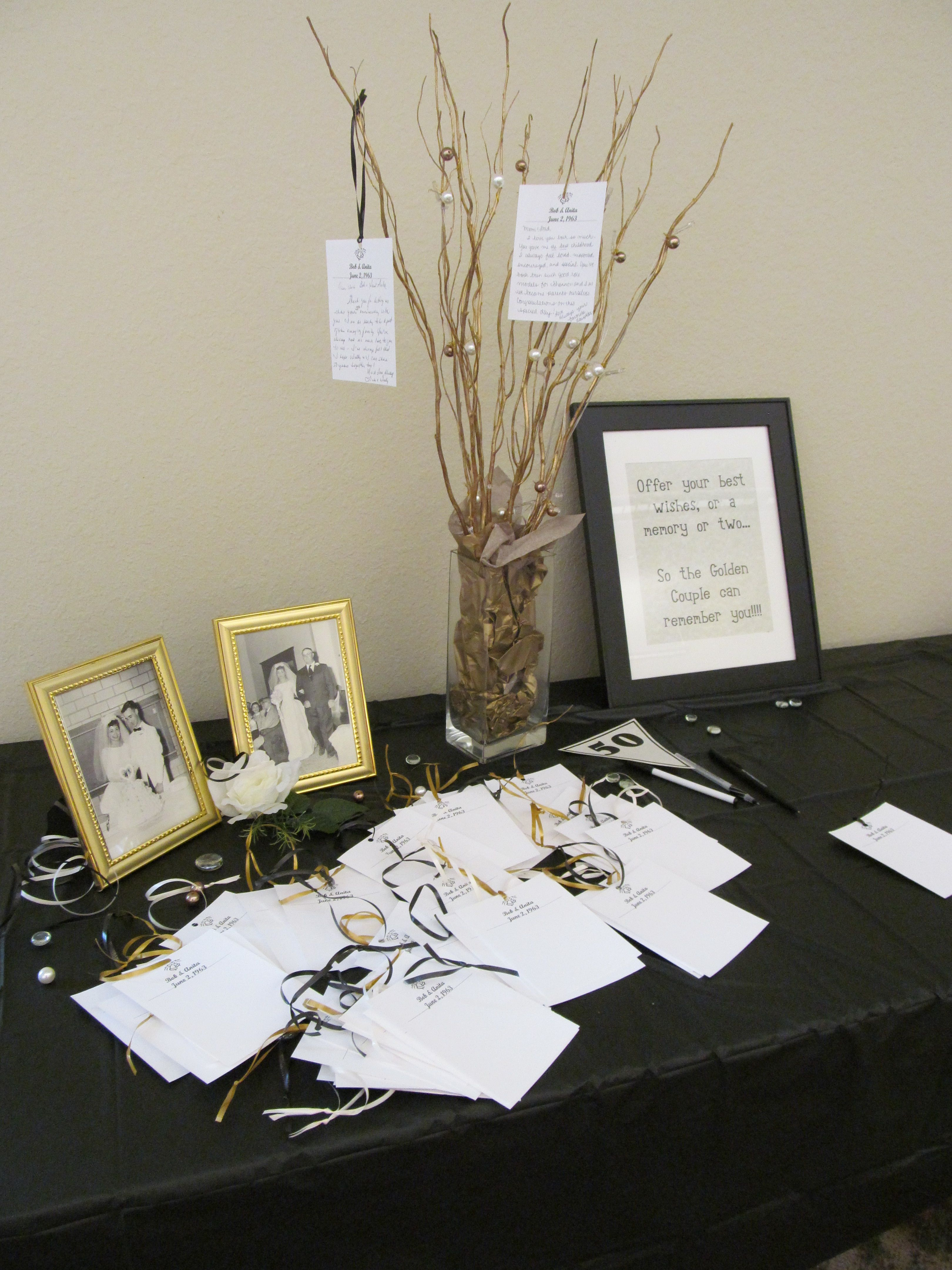 Memory Tree For My Parent S 50th Wedding Anniversary Guests Could