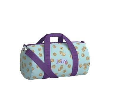 83c03a4404a0 Mackenzie Aqua Glitter Dot Duffle Bag