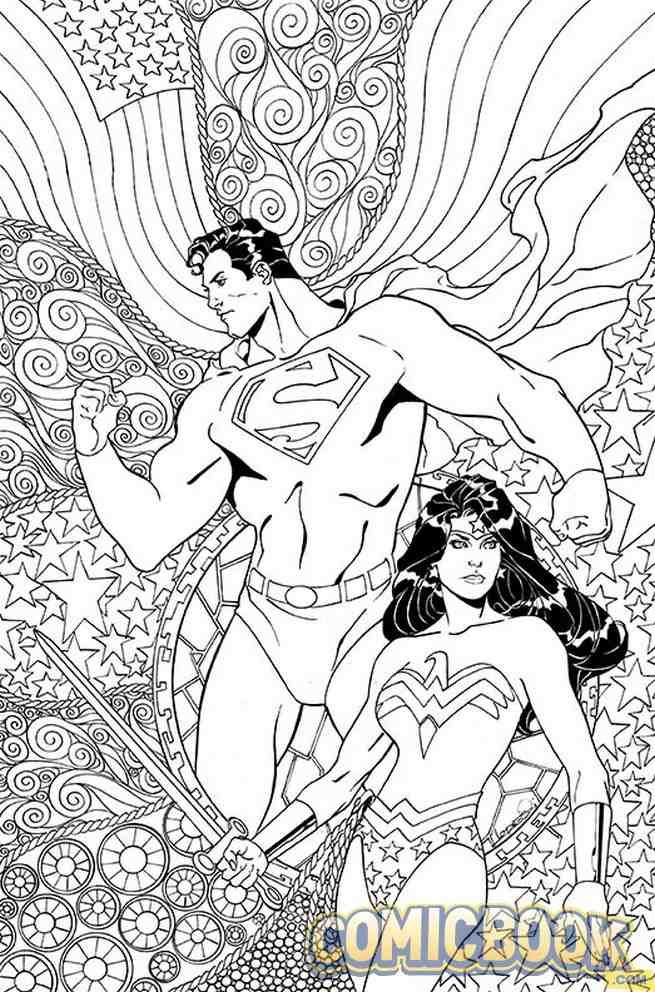 Exclusive dc comics coloring book covers for superman wonder woman robin son of batman and more