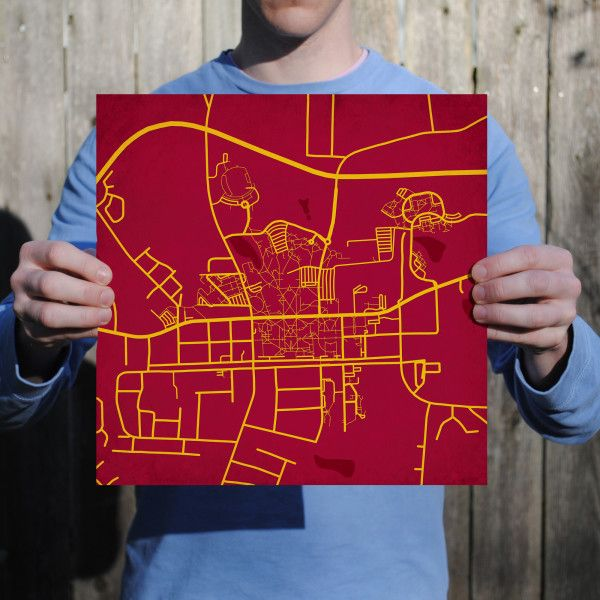 Elon University Campus Map Art | Campuses Map Prints | Pinterest ...