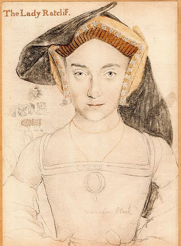 """The Lady Ratclif"", by Hans Holbein. Probably Elizabeth Howard, Lady Ratclif, maternal aunt of Anne Boleyn."