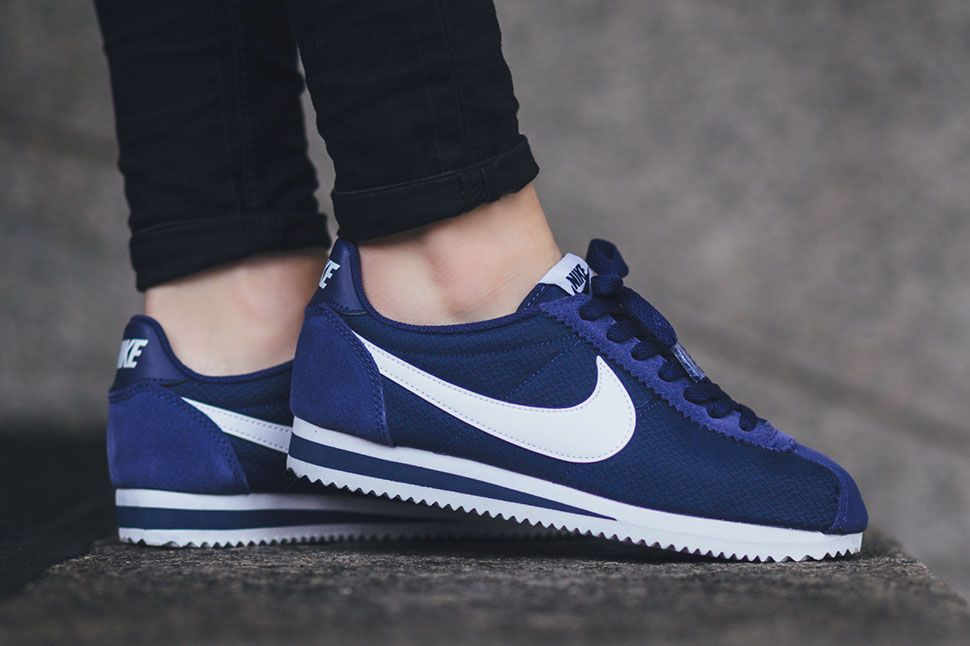 b78481f6b245 The women's Nike Cortez is rendered in vibrant Loyal Blue for its latest  colorway this season