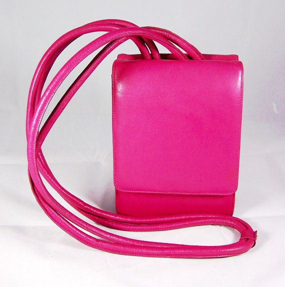 Check out this item in my Etsy shop https://www.etsy.com/listing/190534283/hot-pink-small-cross-body-bag-signed
