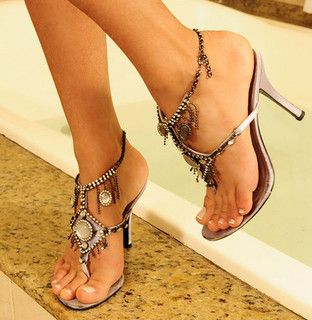 Sexy high heel sandals and feet