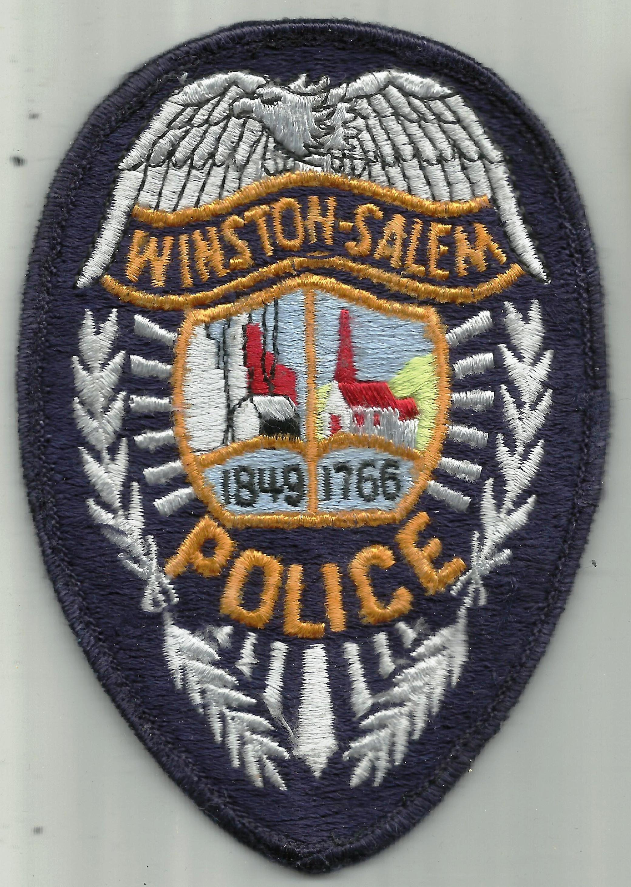 Us State Of North Carolina City Of Winston Salem Police Department Cloth Badge Cloth Badges Police Badge Badge
