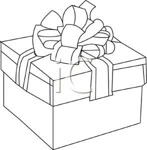 Christmas gift box outlines